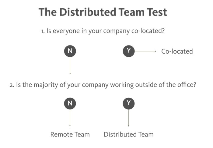 The Distributed Team Test