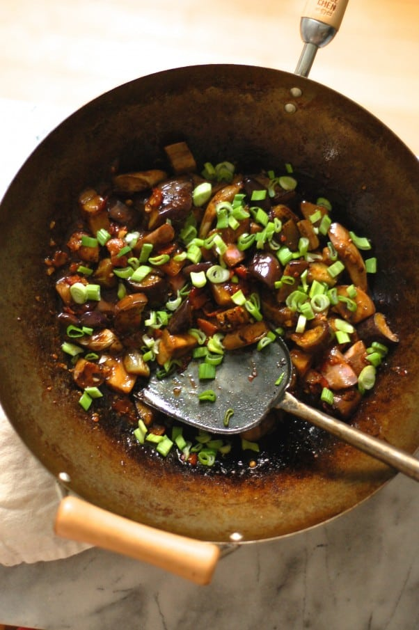 "Sichuan ""Fish Fragrant"" Eggplant with Bacon"