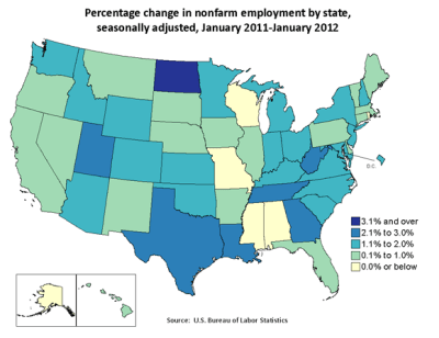 State employment: January 2011 – January 2012 : The Economics Daily : U.S. Bureau of Labor ...
