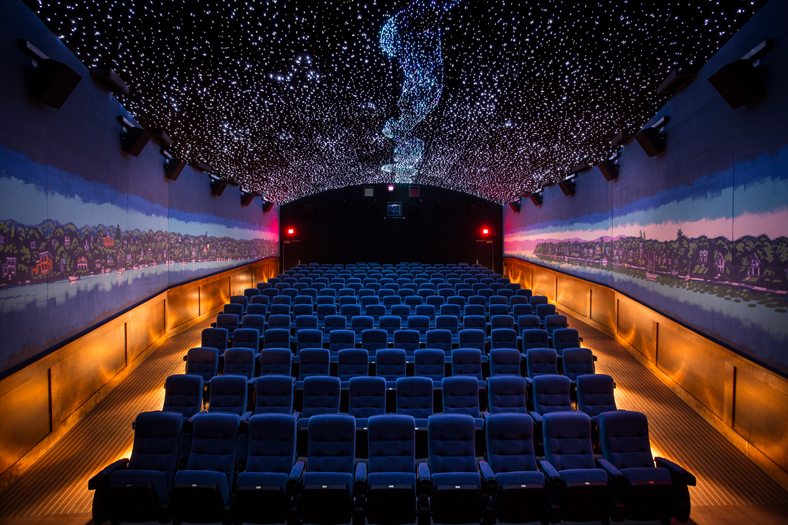 Digital cinema, HD video, and film projection design and