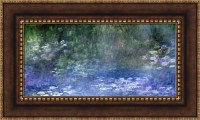 Claude Monet The Water Lilies Framed Canvas Giclee Print ...
