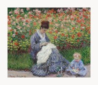 Claude Monet Camille Monet and a Child Framed Canvas Print ...