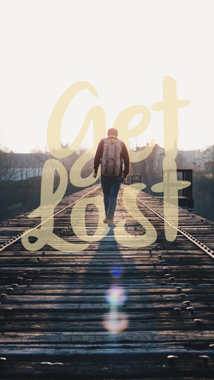 Get Lost iPhone Wallpaper