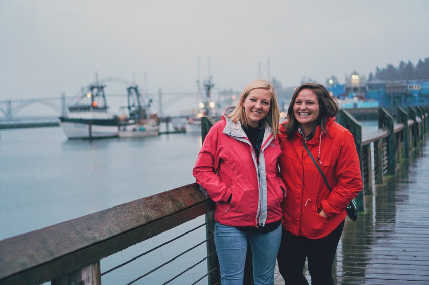Brittany and Danielle on the Bay