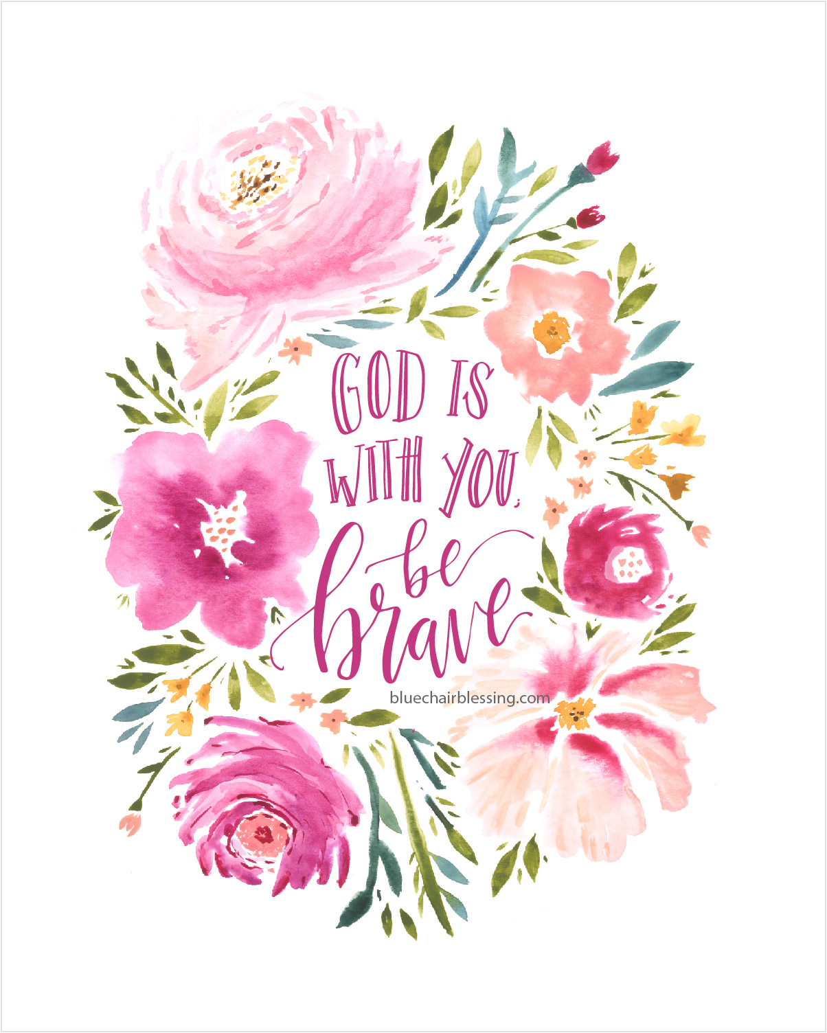 Watercolor Wallpaper Backgrounds Quote God Is With You Hand Lettered And Watercolored 8 By 10