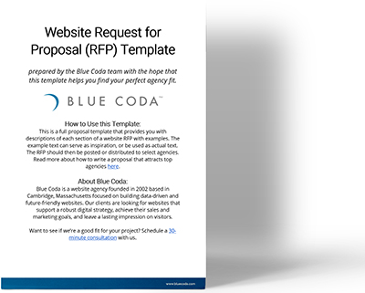 The Complete Website Redesign RFP Template Free Download Blue Coda