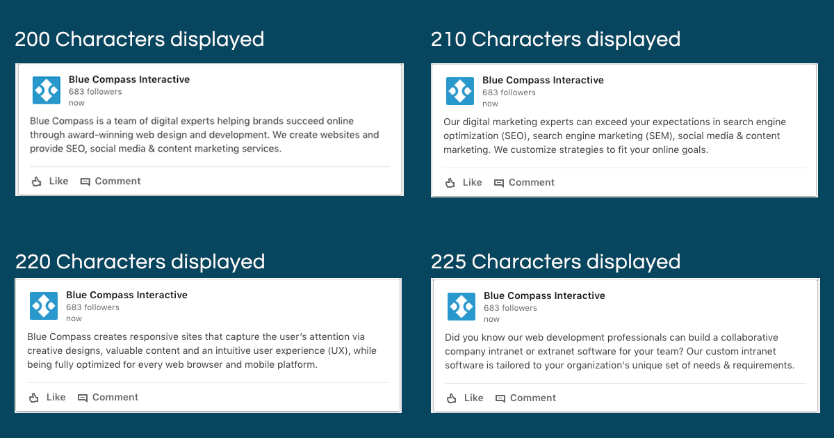 The Best LinkedIn Post Length to Ensure You Don\u0027t Get Cut Off