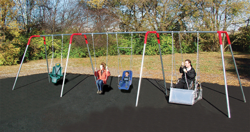 Wheelchair Accessible Swings Playground Equipment For