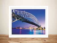 Sydney Harbour Bridge Canvas Digital Art Prints Australia