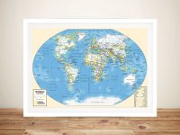 Buy World Map Canvas Wall Art Picture Sydney Australia