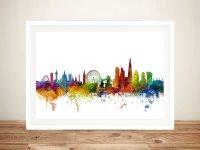 Watercolour London Skyline Wall Art by Michael Tompsett ...