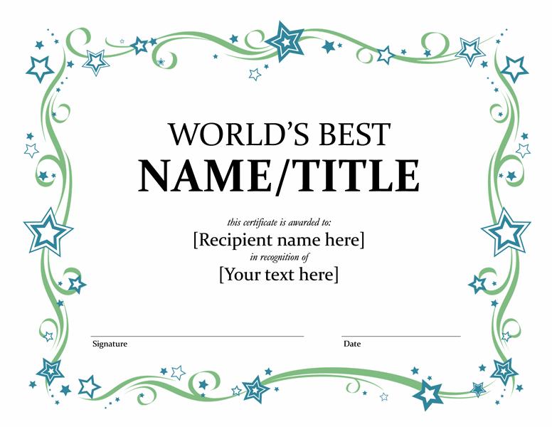 President Award Template
