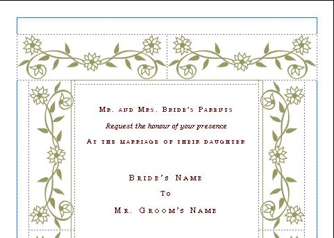 wedding flyers templates free - microsoft word wedding invitation templates free