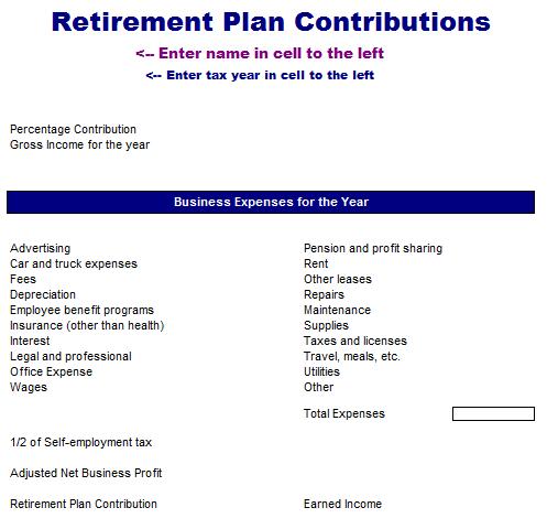 Retirement Plan Contributions Analysis Template
