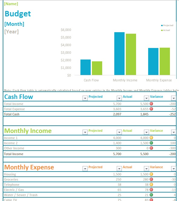 8 Free Personal Budget Template - Blue Layouts