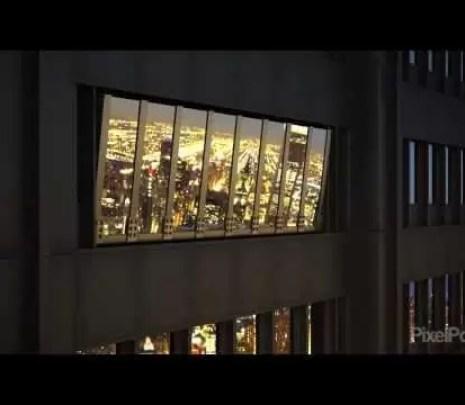 Szklana platforma widokowa zamontowana na 94 piętrze wieżowca w Chicago