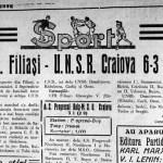 primul meci oficial al craiovei