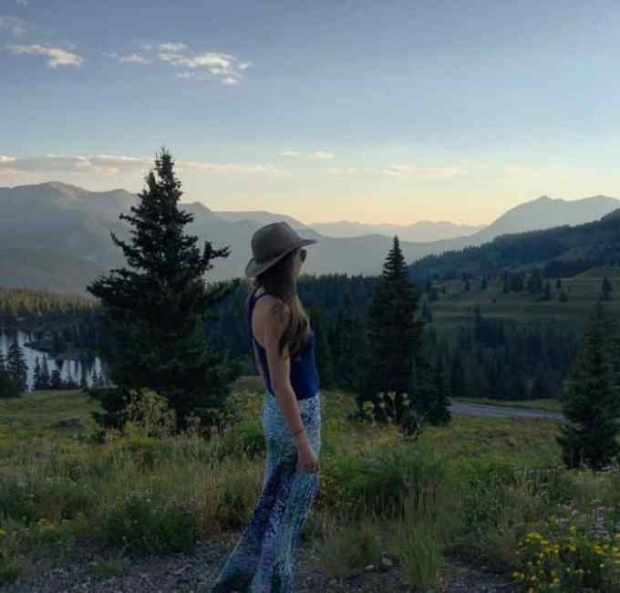 Watercolor skirts and Sunsets, Crested Butte Colorado   Blue Mountain Belle