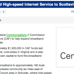 Scottsville / Schuyler : Broadband Expansion Plans Released : Via CBS-19