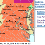 HEAT ADVISORY IN EFFECT FROM NOON TO 8 PM EDT MONDAY - ! EXPIRED !