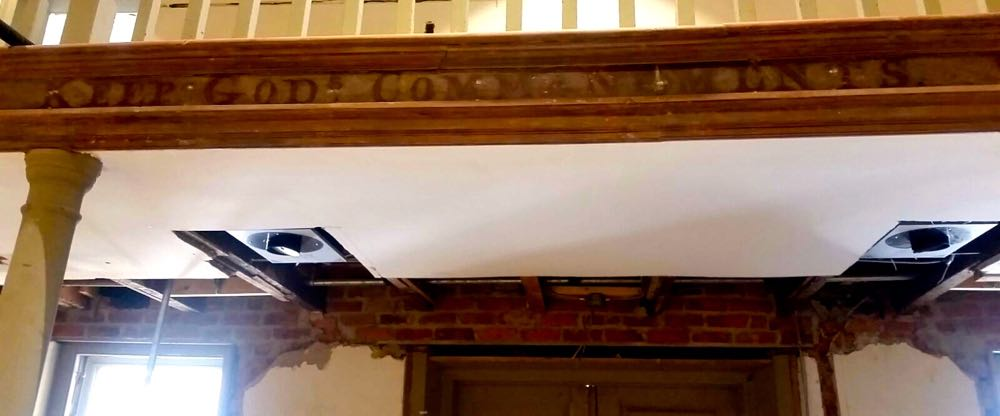 Nelson : Lovingston : Neat Find In Courtroom During Renovation