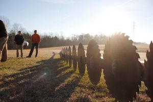 ©2017 Blue Ridge Life Magazine : Photos By BRL Photographer Marcie Gates : Right after the sun rises crews with CVEC in Colleen prep for the start of helicopter tree trimming operations. Monday - March 20, 2017