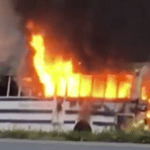 Fire Totals Bus Carrying Soccer Team Along US 29 In Covesville (No Injuries) (Video)
