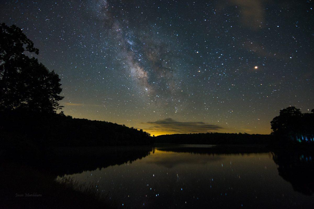 Fall Mountain Lake Wallpaper Quot Milky Way Over Price Lake Milepost 296 7 Quot By Jason Marshburn