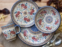 Polish Pottery Dinnerware Sets & Polish Pottery Bluebell 4 ...