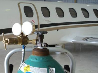 Aircraft AC and Oxygen Services with Blue Skies Aviation in San Marcos Texas