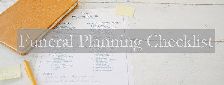 How to Plan a Funeral + Funeral Planning Checklist Free Download The - funeral plans checklist