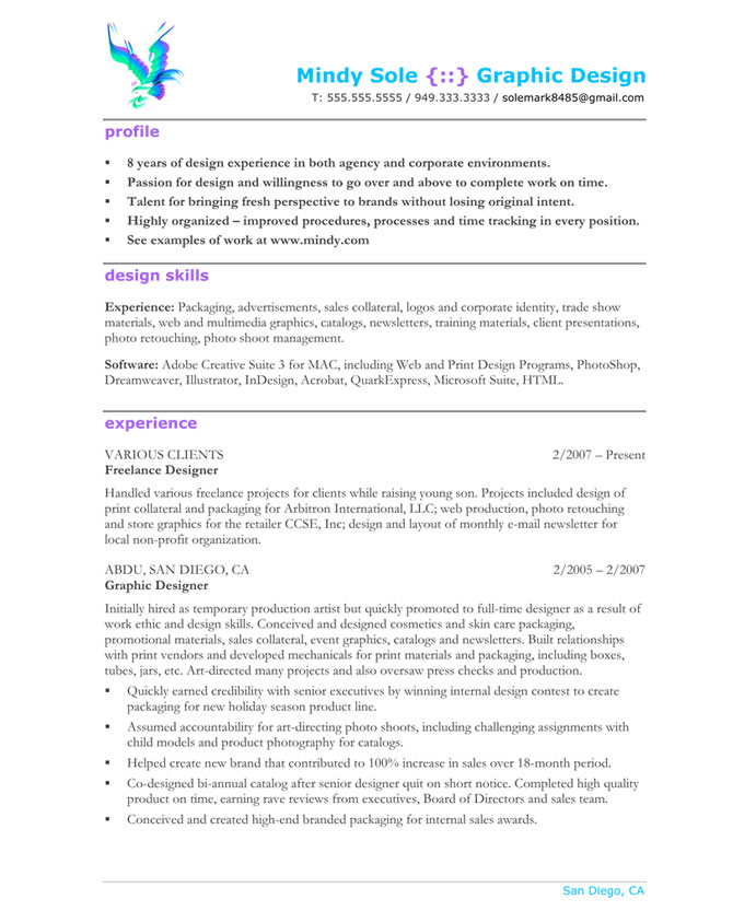 Graphic Designer Free Resume Samples Blue Sky Resumes - resume examples graphic design