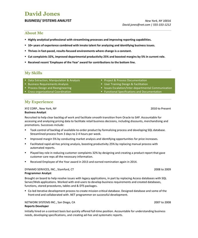 Business Analyst Free Resume Samples Blue Sky Resumes - business resumes