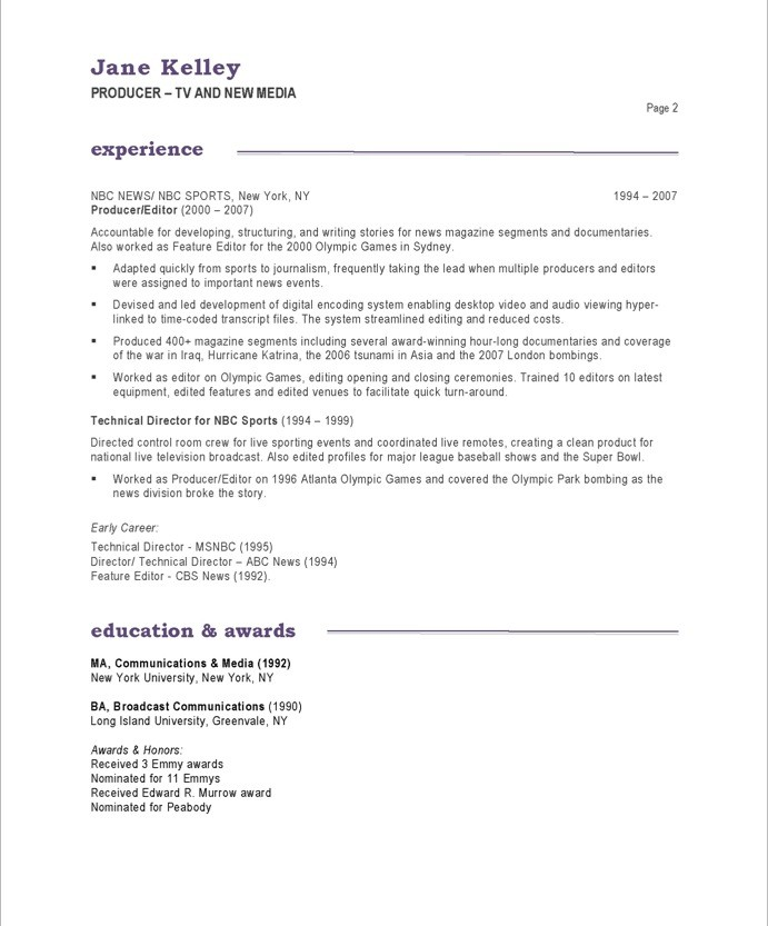example of resume introduction - Resume Introduction
