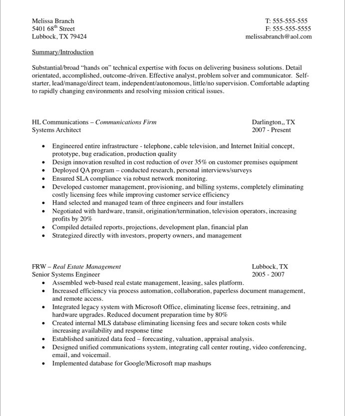 Systems Engineer Free Resume Samples Blue Sky Resumes
