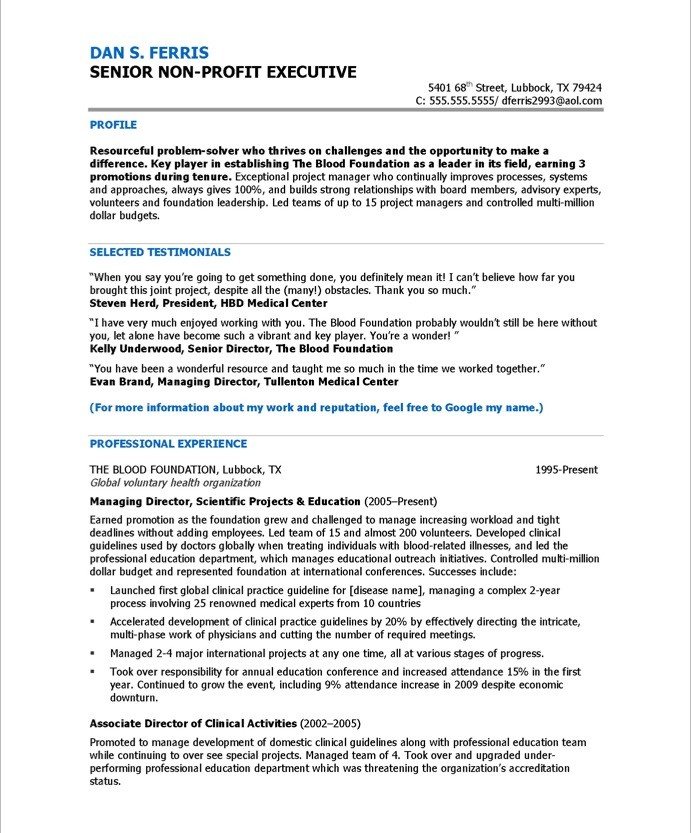 Program Director Free Resume Samples Blue Sky Resumes - program director resume