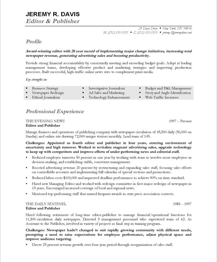 Managing Editor Free Resume Samples Blue Sky Resumes - production editor resume