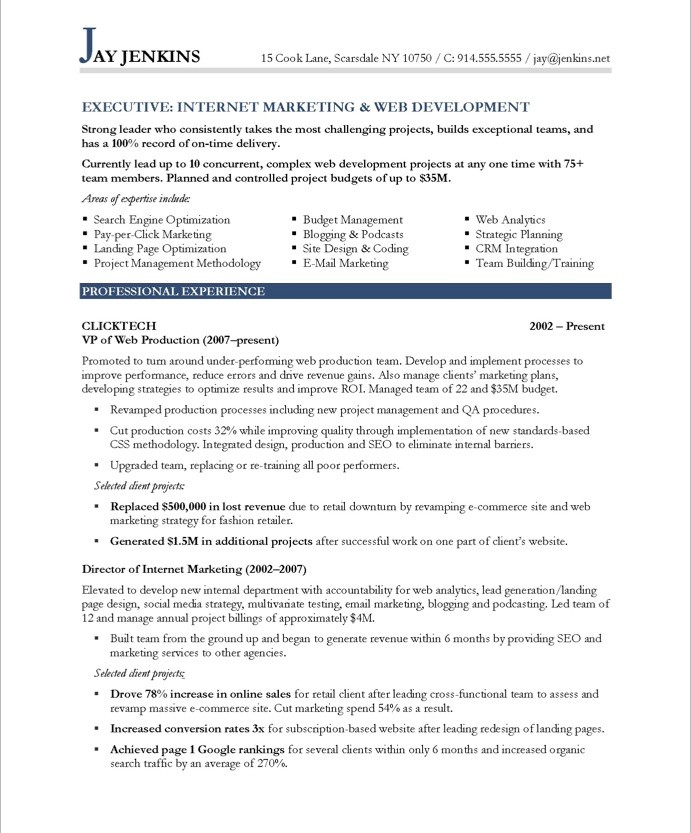 Marketing Resume Template Ideas Of Marketing Resume Examples