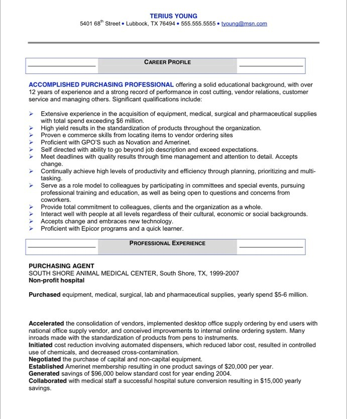 Purchasing Manager Free Resume Samples Blue Sky Resumes - Sample Resume Purchasing Manager