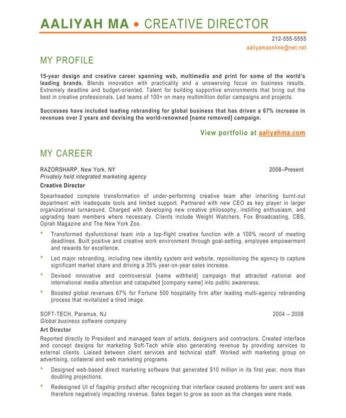 Creative Director Free Resume Samples Blue Sky Resumes - some sample resumes