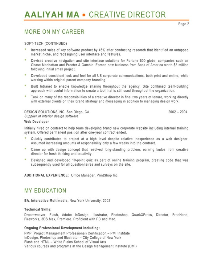 creative director resumes - Selol-ink
