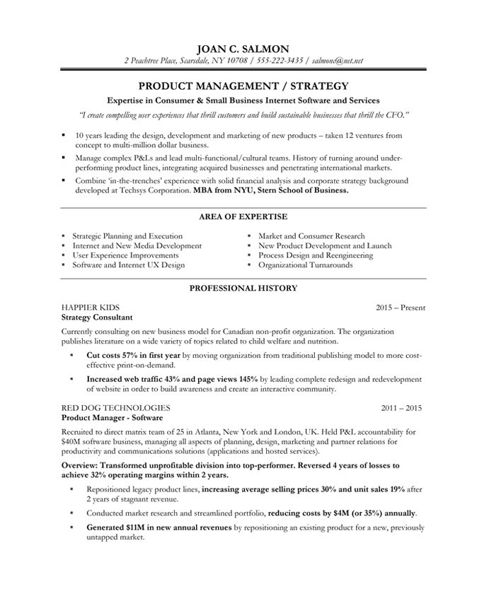 Product Manager Free Resume Samples Blue Sky Resumes