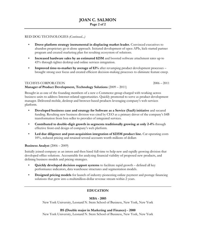 Product Manager Free Resume Samples Blue Sky Resumes - Management Sample Resume