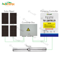 Buy 3HP deep well stainless steel solar borehole pumps for