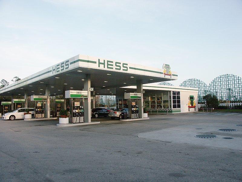 Images of gas station, designed for Walt Disney World Resort, Lake