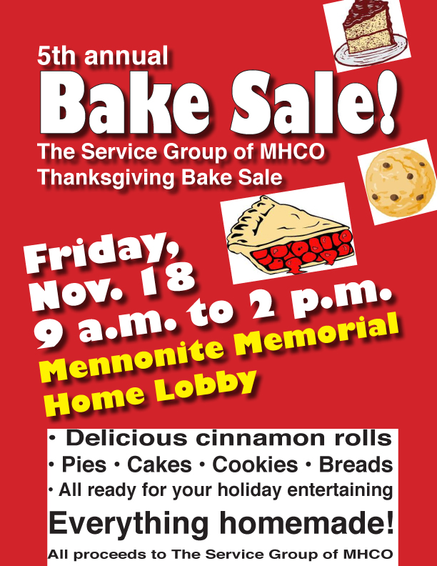 Thanksgiving bake sale Friday in MMH lobby The Bluffton Icon