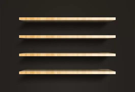 3d Shelf Wallpaper Wooden Shelves Psd Vector