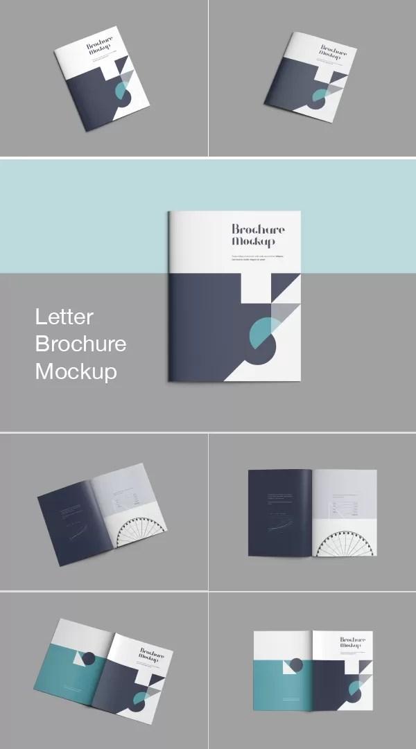 Letter Size Brochure Mockup