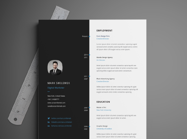 free template cv illustrator