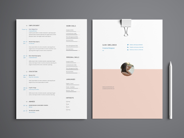 infographics template resume